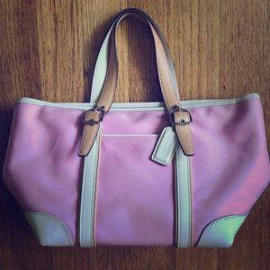 Coach mini satchel PINK!
